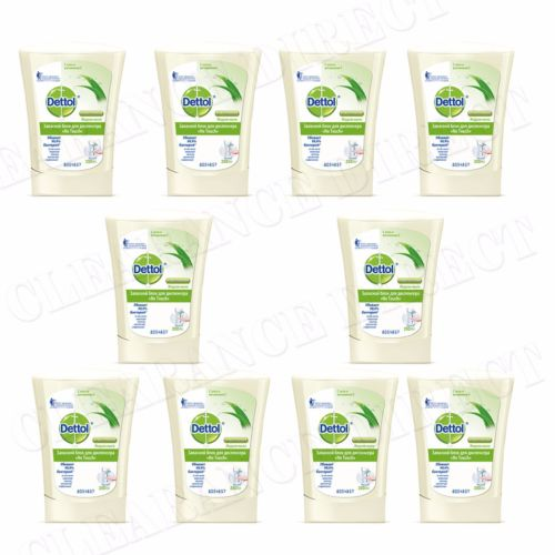 10 Dettol No Touch Refill Hand Wash Aloe Vera Soap Anti Bacterial Hygiene 250ml