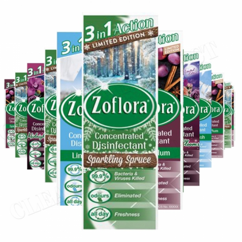 12 X 120ML ZOFLORA CHRISTMAS WINTER COLLECTION DISINFECTANT LIMITED EDT 2021