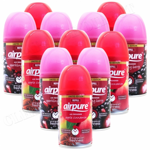 12 X AIRPURE FRESHMATIC AUTOMATIC SPRAY REFILLS 250ML APPLE & BERRY AIRWICK
