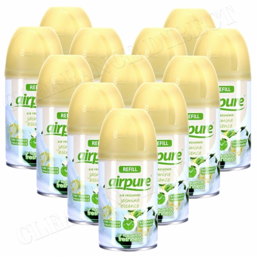 12 X AIRPURE FRESHMATIC AUTOMATIC SPRAY REFILLS 250ML JASMINE ESSENCE AIRWICK
