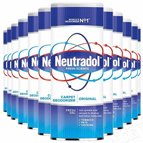 12 x Neutradol Original Carpet Odour Destroyer Air Freshner Vac n Clean 350g