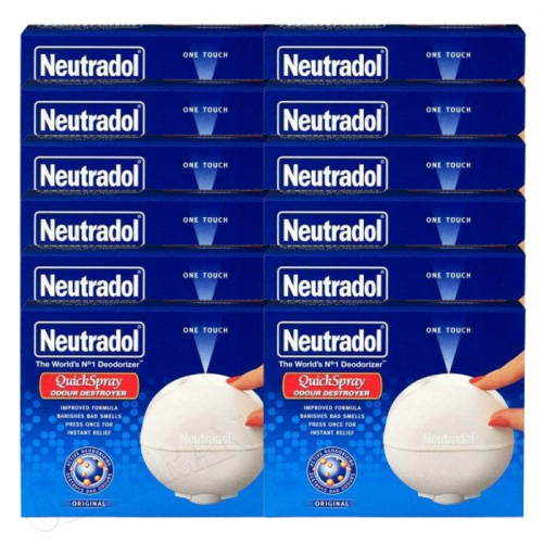 12 x Neutradol Quick Spray Original Odour Destroyer Air Freshner 50ml