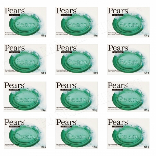12 x PEARS GREEN GERM SHIELD SOAP LEMON FLOWER EXTRACT DERMATOLOGIST TESTED 125g