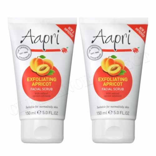 2 x Aapri Exfoliating Apricot Face Facial Scrub Cream 150ml New Improved Formula