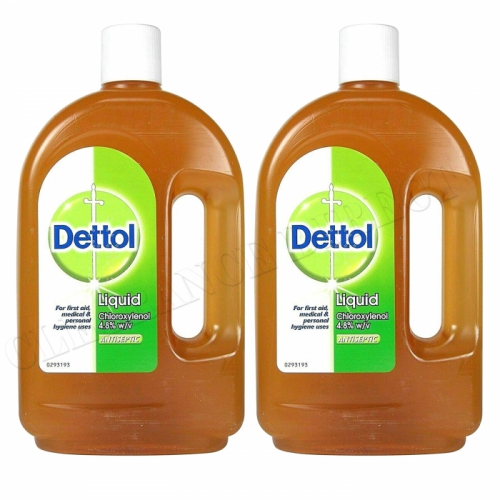 2 x DETTOL ANTISEPTIC LIQUID 750ml BOTTLE KILLS BACTERIA AND PROTECTS