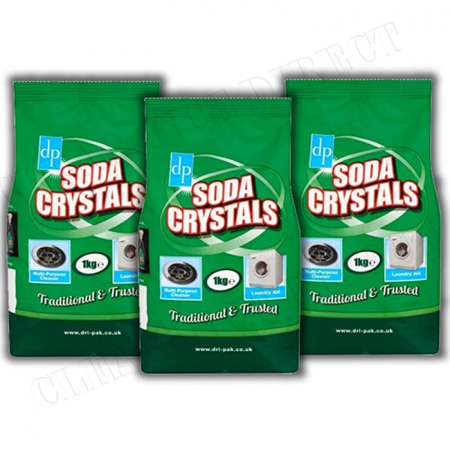 3Kg DRI PACK SODA CRYSTALS MULTI PURPOSE CLEANER LAUNDRY AID WATER SOFTENER