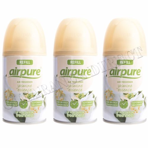 3 X AIRPURE FRESHMATIC AUTOMATIC SPRAY REFILLS 250ML JASMINE AIRWICK