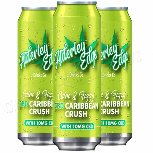 3 X ALDERLEY EDGE DRINKS CO CALM & FIZZY CBD CARIBBEAN CRUSH 250ML