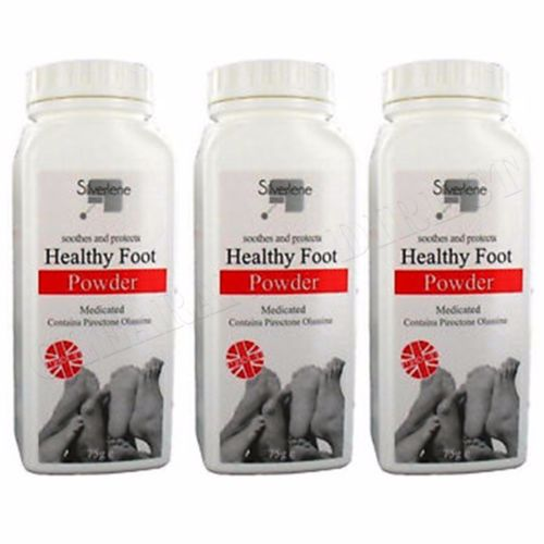 3 x ATHLETES HEALTHY FOOT POWDER MEDICATED TREATS AND PREVENTS ANTI  FUNGAL 75g