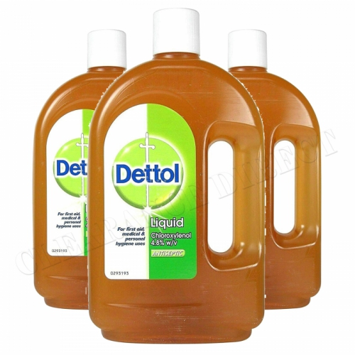 3 x DETTOL ANTISEPTIC LIQUID 750ml BOTTLE KILLS BACTERIA AND PROTECTS