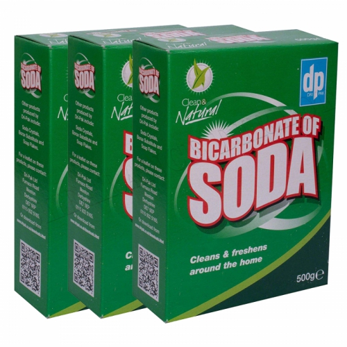 3 x DRI-PAK BICARBONATE OF SODA 500g BOXED CLEANS & FRESHENS AROUND THE HOME