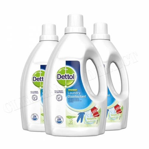 3 x Dettol Anti-Bacterial Laundry Disinfectant Cleanser Liquid 1.5L Sensitive