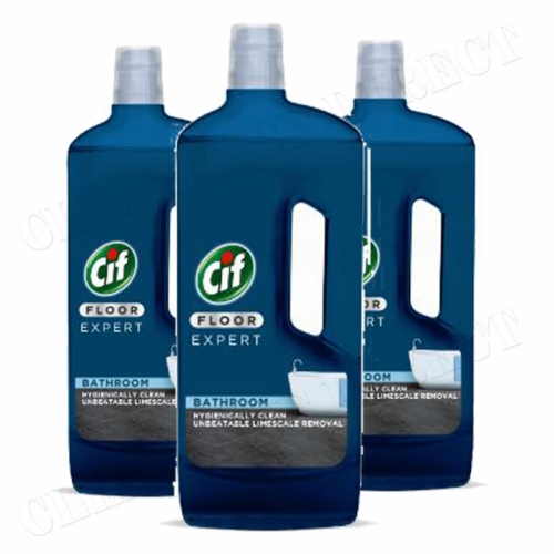 3 x NEW CIF FLOOR EXPERT BATHROOM UNBEATABLE LIMESCALE REMOVAL 750ml