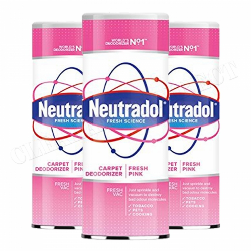 3 x Neutradol Fresh Pink Carpet Odour Destroyer Air Freshner Vac n Clean 350g