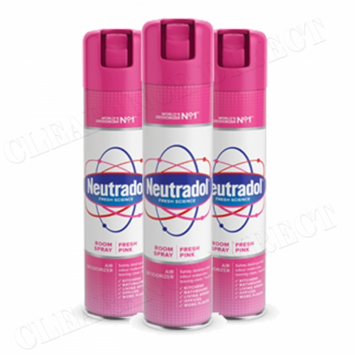 3 x Neutradol Fresh Pink Odour Destroyer Air Freshner Room Spray 300ml