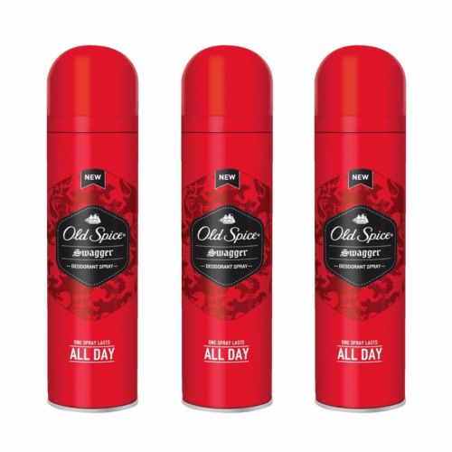 3 x Old Spice Swagger  Deodorant Body Spray Odour Sweat 150ml FREE POSTAGE