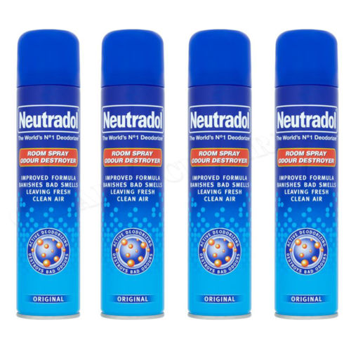 4 x NEUTRADOL ROOM SPRAY ODOUR DESTROYER ORIGINAL IMPROVED FORMULA  330ml