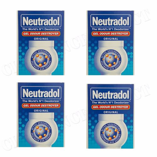 4 x NEUTRADOL SOLID GEL ODOUR DESTROYER AIR FRESHNER ORIGINAL LAST 90 DAYS