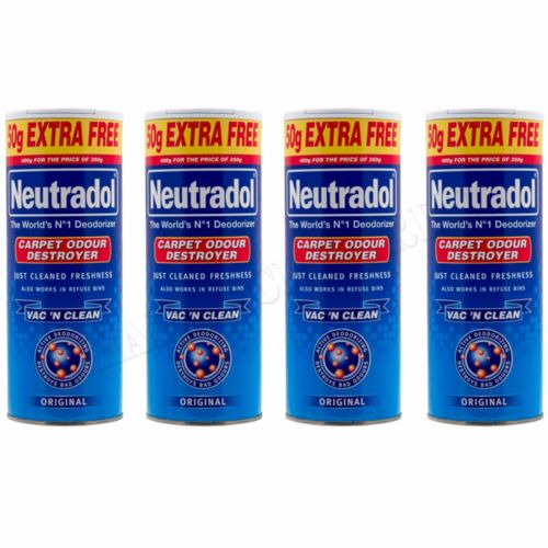 4 x Neutradol Original Carpet Odour Destroyer Air Freshner Vac n Clean 400g