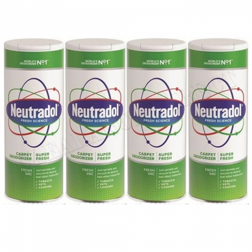 4 x Neutradol Super Fresh Carpet Odour Destroyer Air Freshner Vac n Clean 400g