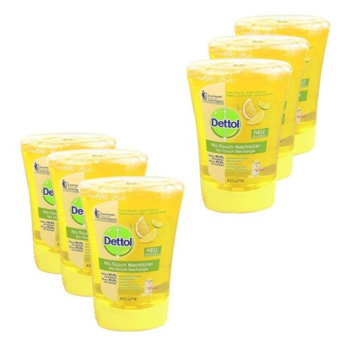 6 DETTOL NO TOUCH REFILL HAND WASH SOAP ANTI BACTERIAL 250ml SCENTED CITRUS