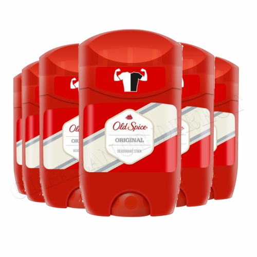 6 Packs of Old Spice Original Deodorant Stick 50ml