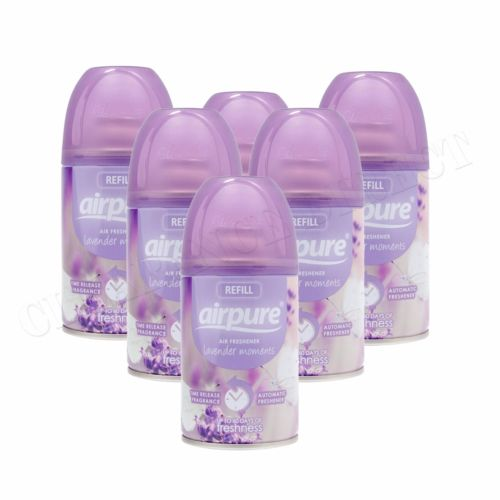 6 X AIRPURE FRESHMATIC AUTOMATIC SPRAY REFILL 6 x 250ML LAVENDER AIRWICK HOME