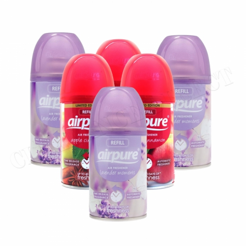 6 X AIRPURE FRESHMATIC AUTOMATIC SPRAY REFILLS 250ML AIRWICK APPLE & LAVENDER