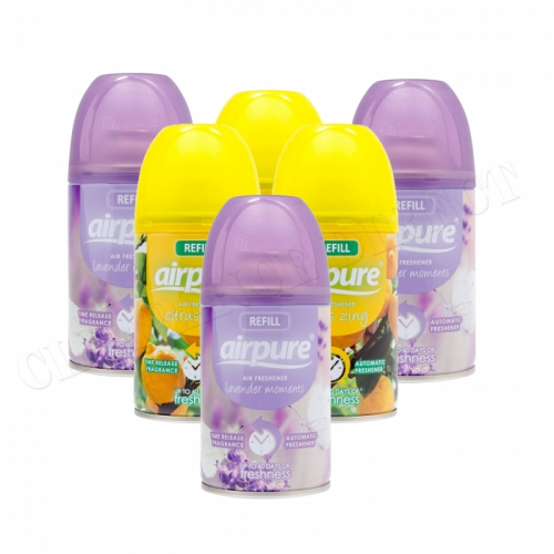 6 X AIRPURE FRESHMATIC AUTOMATIC SPRAY REFILLS 250ML AIRWICK CITRUS & LAVENDER