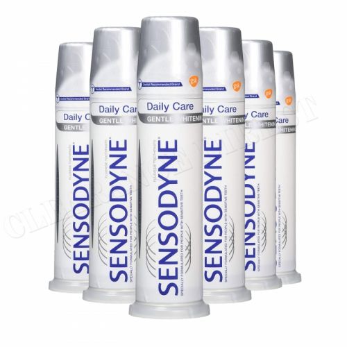 6 X Sensodyne Daily Care Gentle Whitening Pump Toothpaste 100ml