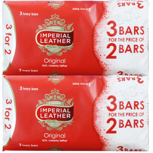 6 x 100g CUSSONS IMPERIAL LEATHER ORIGINAL CLASSIC RICH CREAMY LATHER BATH SOAP