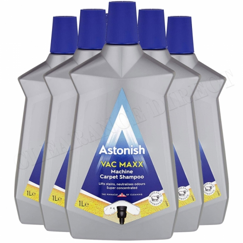 6 x Astonish Vac Maxx Machine Carpet Shampoo 1 Litre