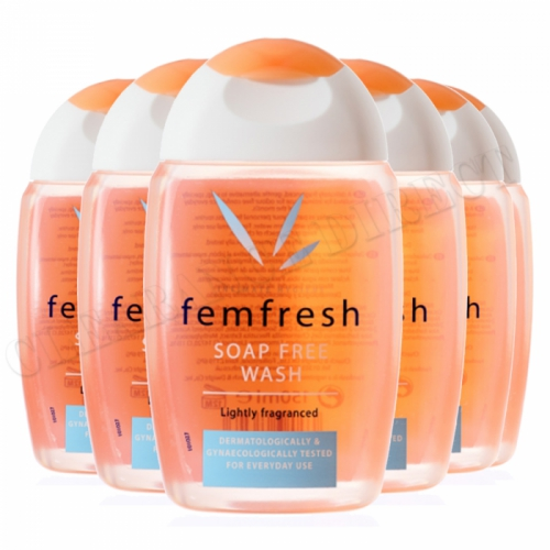 6 x Femfresh Daily Intimate Hygiene Wash Soap Free 150ml Lightly Fragranced