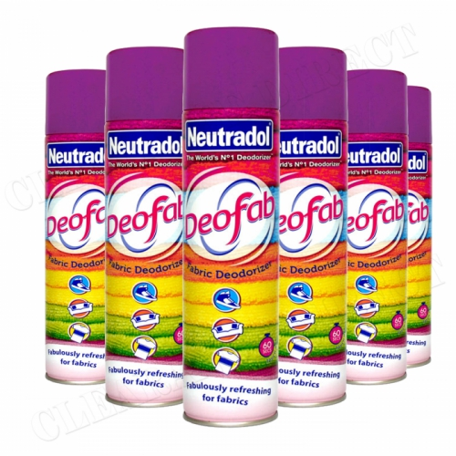 6 x NEUTRADOL DEOFAB FABRIC DEODORIZER 300ml FABULOUSLY REFRESHING FOR FABRICS