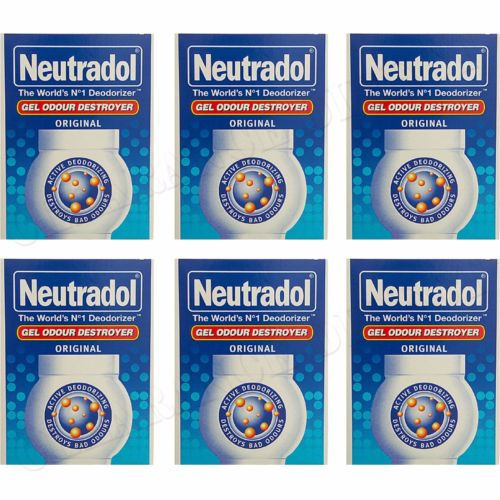 6 x NEUTRADOL SOLID GEL ODOUR DESTROYER AIR FRESHNER ORIGINAL LAST 90 DAYS