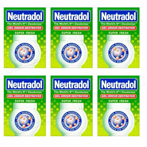 6 x NEUTRADOL SOLID GEL ODOUR DESTROYER AIR FRESHNER SUPER FRESH LAST 90 DAYS