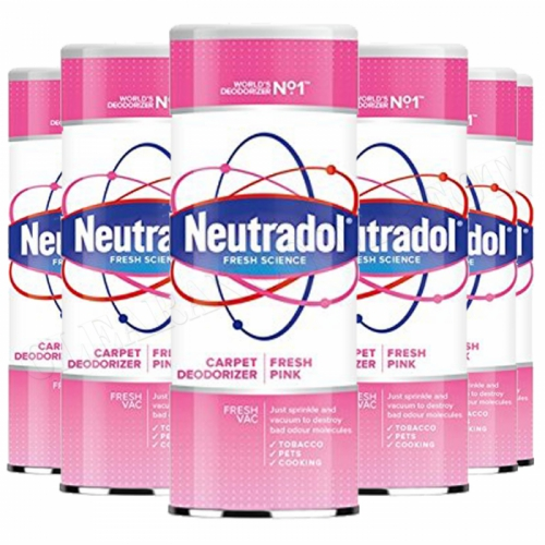 6 x Neutradol Fresh Pink Carpet Odour Destroyer Air Freshner Vac n Clean 350g