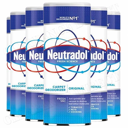 6 x Neutradol Original Carpet Odour Destroyer Air Freshner Vac n Clean 350g