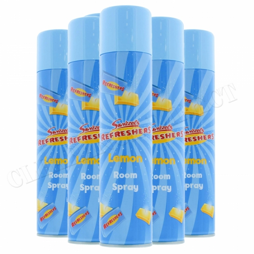 6 x SWIZZELS REFRESHERS LEMON AIR FRESHENER ROOM SPRAY 300ml NEW PRODUCT