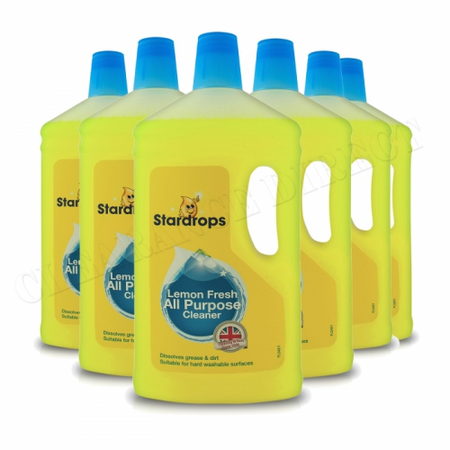 6 x Stardrops Lemon Fresh All Purpose Cleaner 6 x 1 Litre