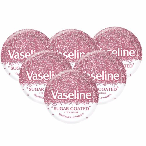 6 x VASELINE LIMITED EDITION SUGAR COATED LIP BALM 20g FREE POSTAGE