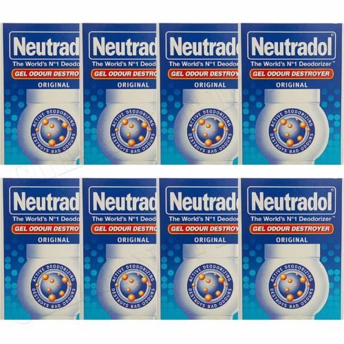 8 x NEUTRADOL SOLID GEL ODOUR DESTROYER AIR FRESHNER ORIGINAL LAST 90 DAYS