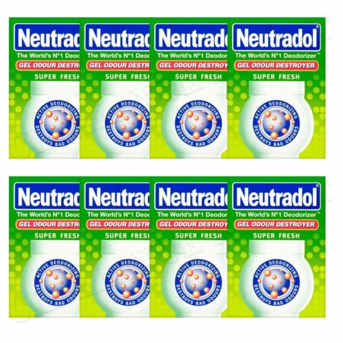 8 x NEUTRADOL SOLID GEL ODOUR DESTROYER AIR FRESHNER SUPER FRESH LAST 90 DAYS
