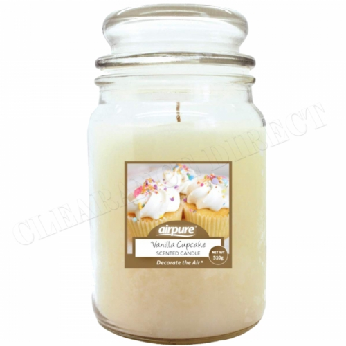 AIRPURE CANDLE VANILLA CUPCAKE 510g 75-90hr BURN TIME