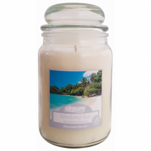 AIRPURE CANDLE WOODLAND SEAS 510g 75-90hr BURN TIME