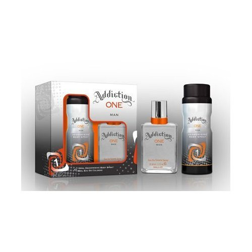 Addiction One Man Eau de Toilette & Bodyspray Gift Set Christmas Gift Set