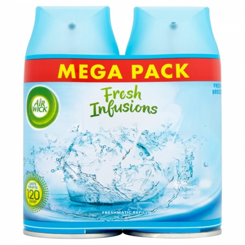 Air Wick Freshmatic Automatic Spray Refill - 2 x Fresh Breeze 250ml Mega Pack