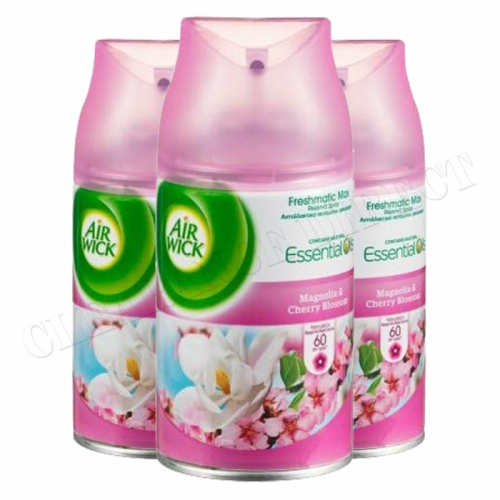 Air Wick Freshmatic Max Refills 250ml - Magnolia & Cherry Blossom pack of 3