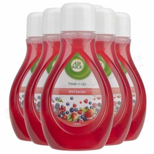 Air Wick Wild Berries Fresh n Up Air Freshener Christmas Fragrance 375ml NEW x 6