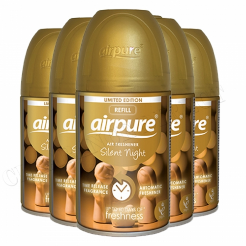 Airpure Air Freshener Automatic Silent Night Christmas Limited Editio 250ml x 6